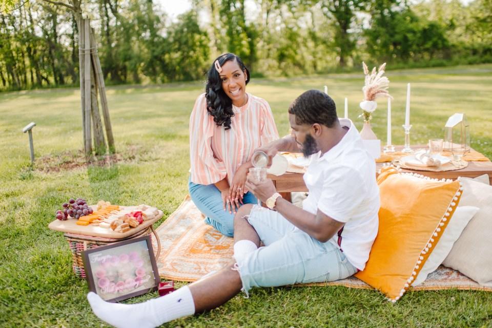birthday romantic picnic in new jersey
