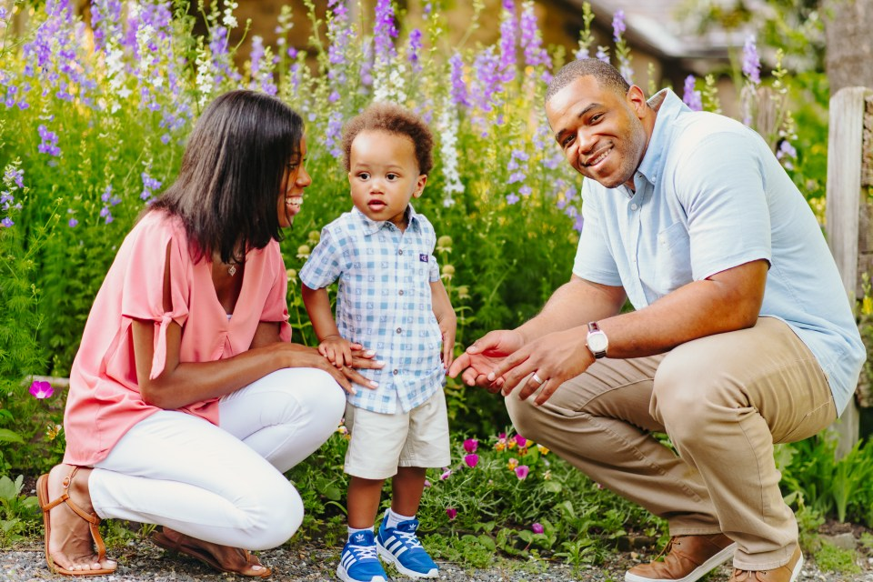 beautiful black family session philly