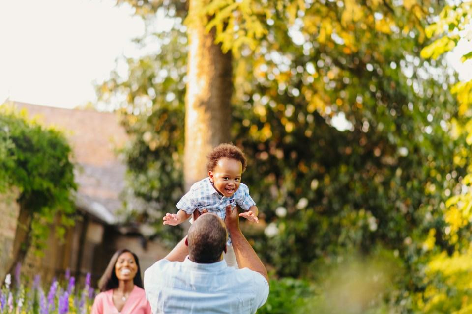 boy tossed in air by dad in bartram's garden philadelphia