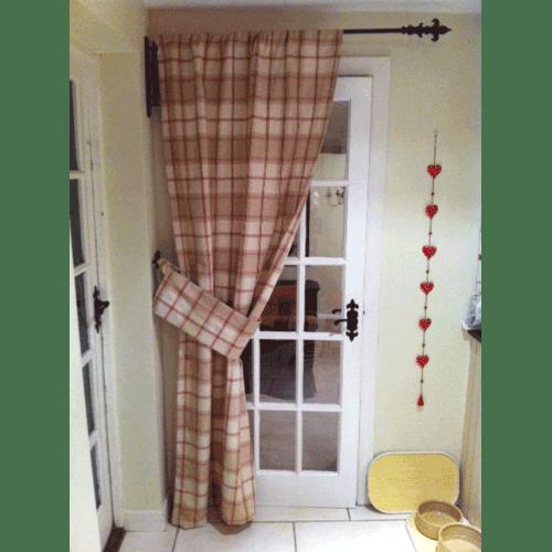 iron metal swinging door curtain pole