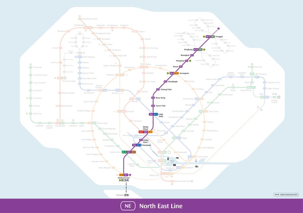 North-East Line Mrt Map
