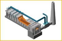 Pusher-type single sided reheating furnace