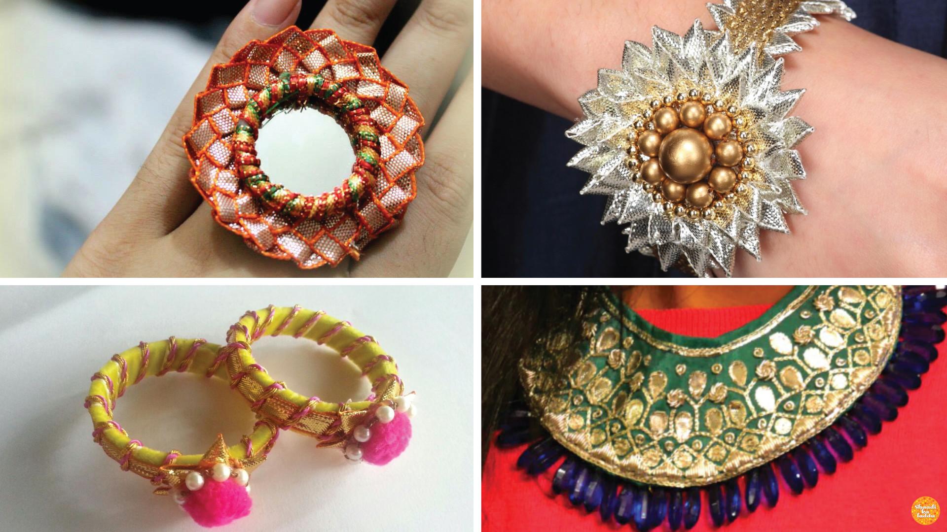 Dazzle With DIY Gota Patti Jewelery Shaadi Ka Laddu Blog