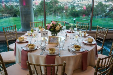 Lovely place settings and these chivari chairs create an elegant atmosphere