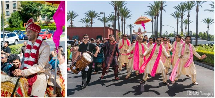 18-Anaheim-Embassy-Suites-orange-county-indian-hindu-gujarati-wedding-photographer-family-baraat-dhol-photos
