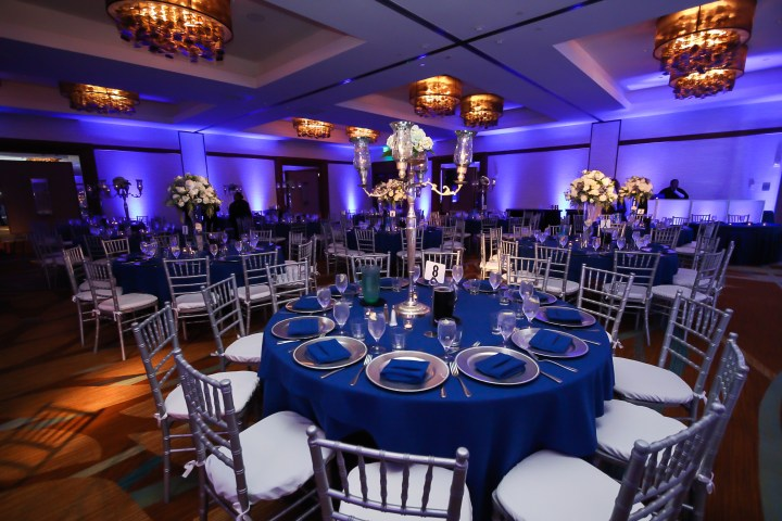 Navy Blue and Silver Decor  Indian Wedding Venues