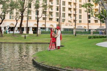 The hotel is on the perimeter of a courtyard with a lagoon - great area for taking photos.