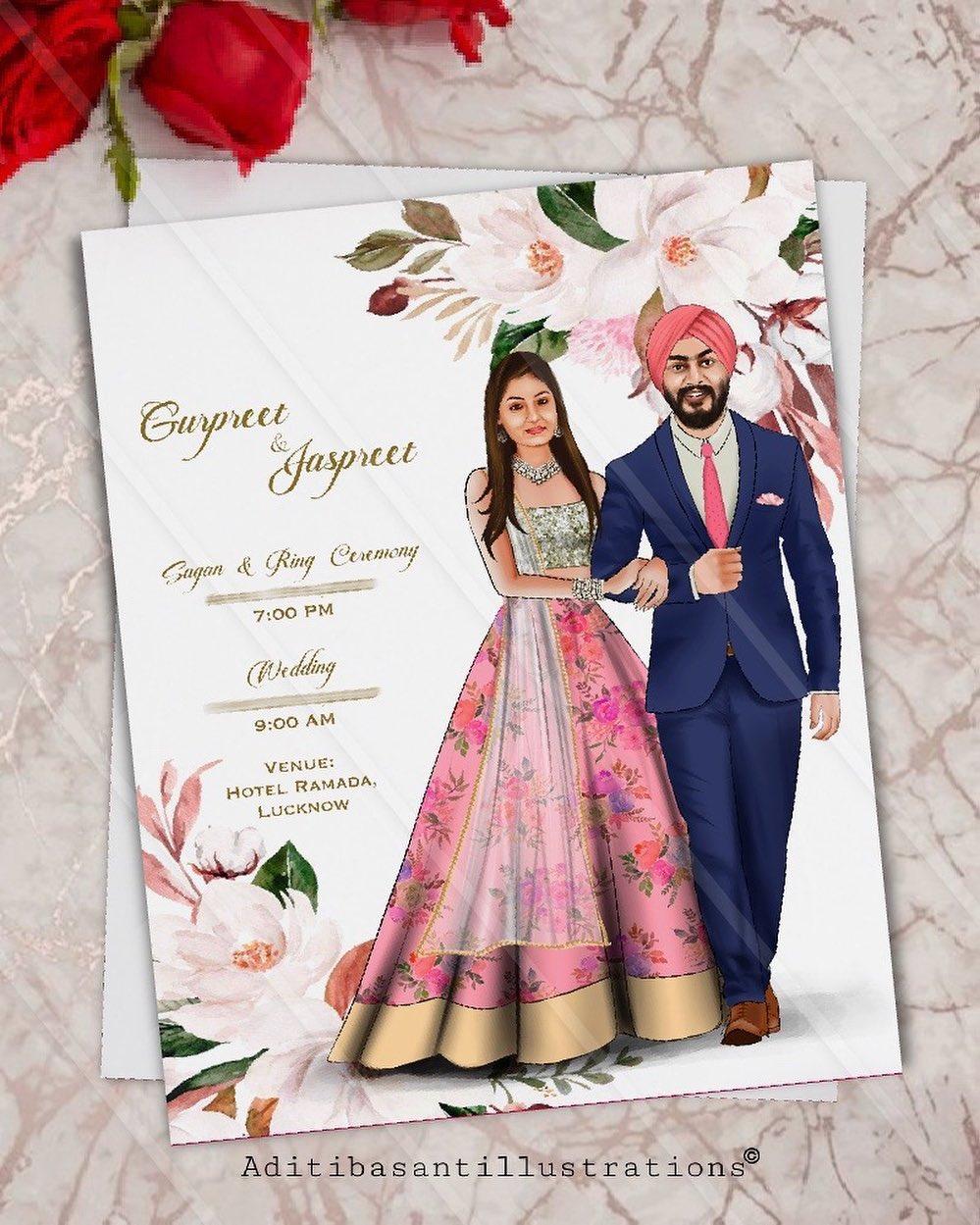 unique wedding card designs for that