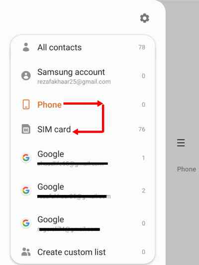 How to Transfer Contacts from Phone to SIM card on Samsung: android 10