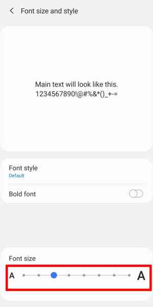 How to Change Text Message font Size on Samsung S8, S10, Note 9 & etc