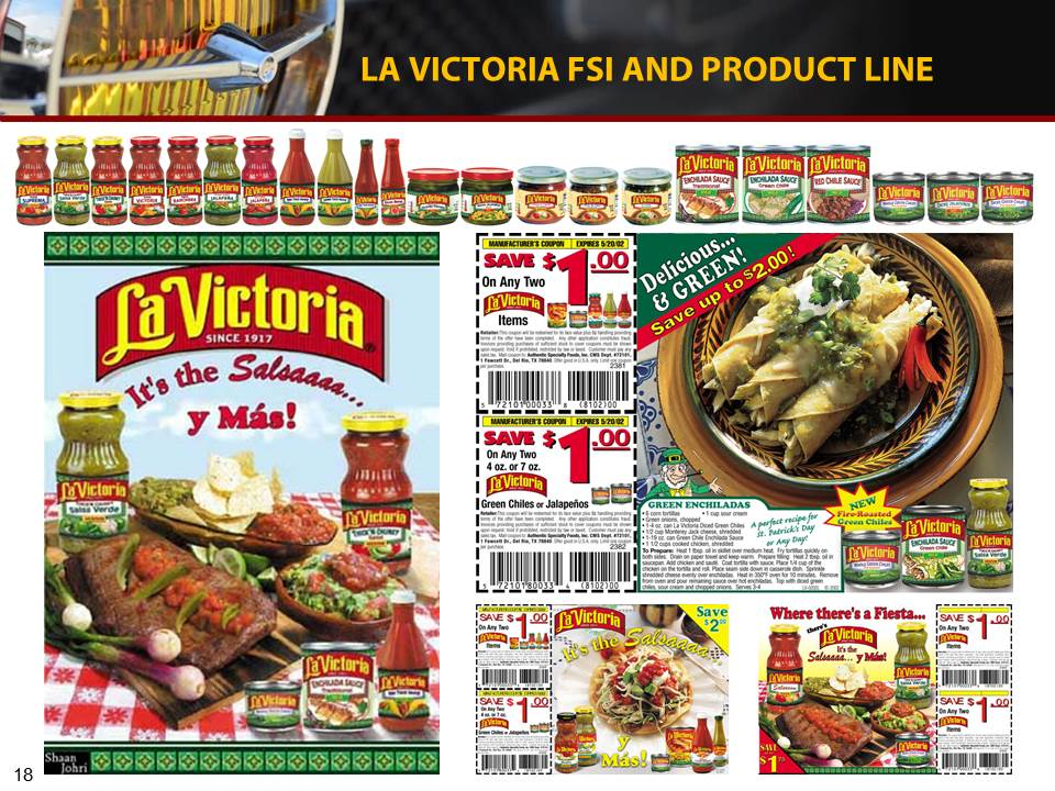 Complete product line, redesign, and FSI ads with coupons