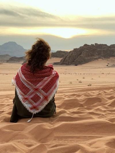 student of spoken Arabic at Shababeek center in Wadi Rum