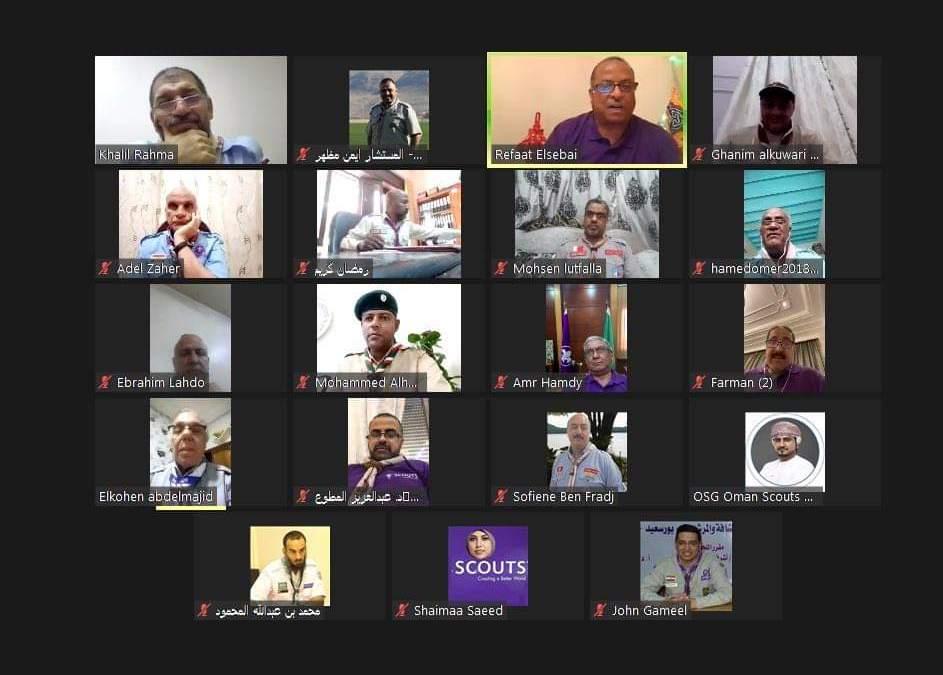 جمعية الكشافة تُشارك في اجتماع مفوضي التدريب وتنمية القيادات بالجمعيات الكشفية العربية