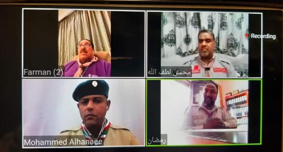 جمعية الكشافة تُشارك في اجتماع مفوضي تنمية القيادات العرب
