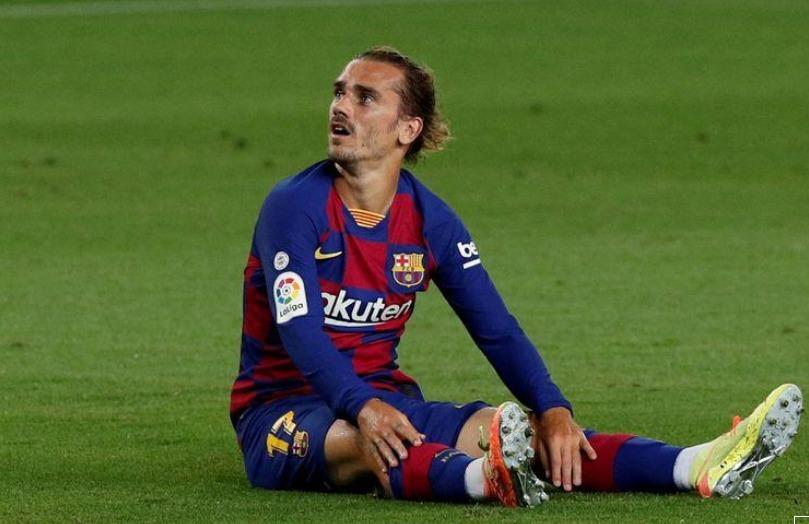 إصابة جريزمان مهاجم برشلونة وربما يغيب عن أخر جولتين