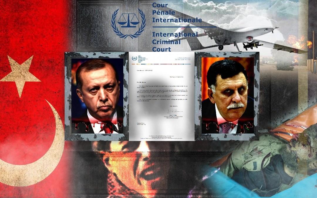 الجنائية الدولية تقبل دعوى قضائية ضد جرائم أردوغان والسراج في ليبيا