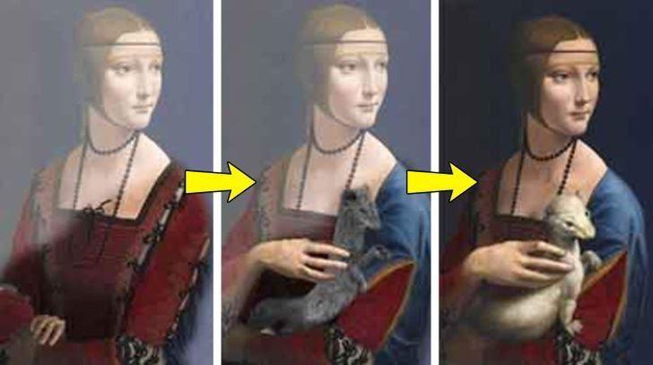 لوحات شهيرة تخفي صورة مختلفة جدًا تحت طبقات الطلاء