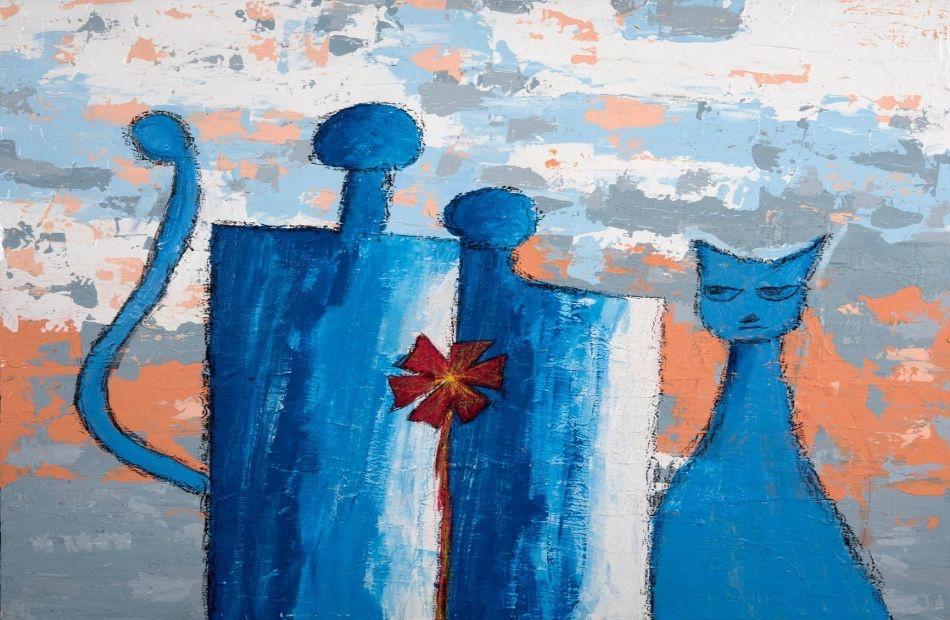 التشكيلية آلاء نجم: لوحاتي بالمعرض العام تتناول فلسفة الصراع بين الخير والشر