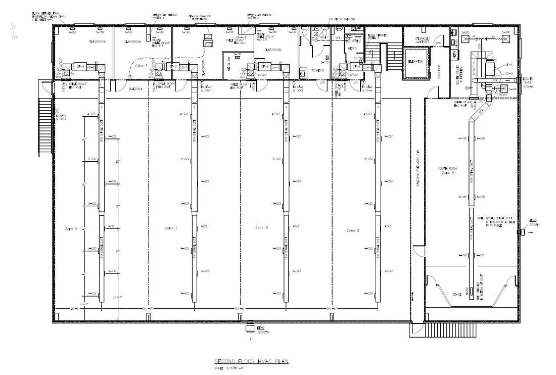 hight resolution of hvac second floor