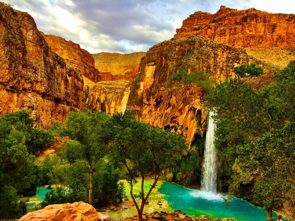 Camping at Havasu Falls & Hike to The Confluence of the Colorado River