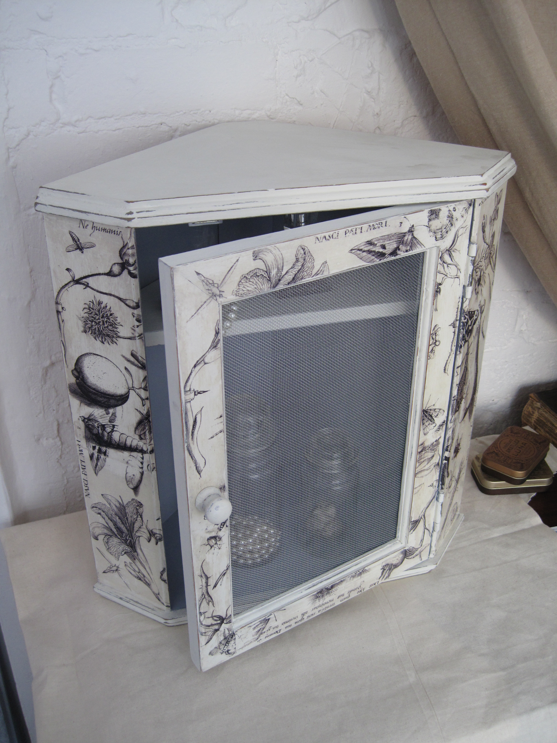 corner kitchen cabinet delta faucet repair parts shabby chic old illustrations triangle armoire – ...