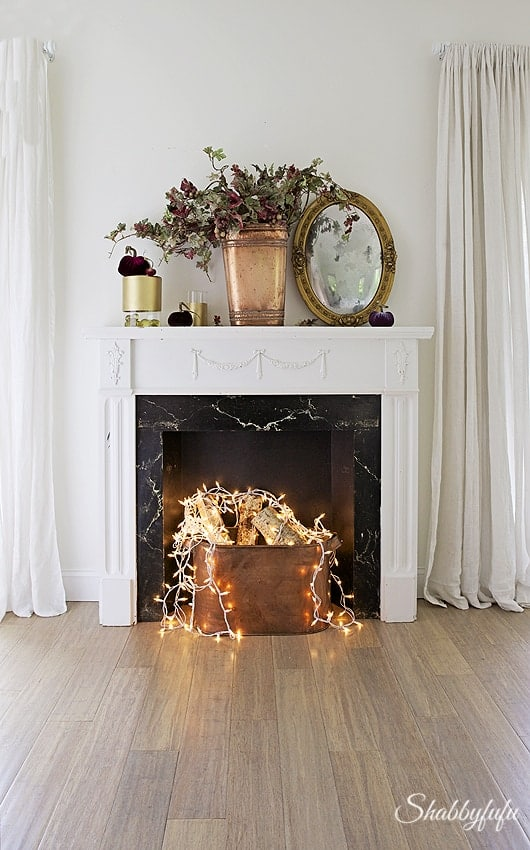 Fake Fireplace Idea  When You Dont Have A Real One