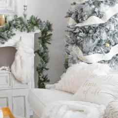 Elegant Christmas Living Room Decor Decorative Chairs And Simple In White Shabbyfufu Com