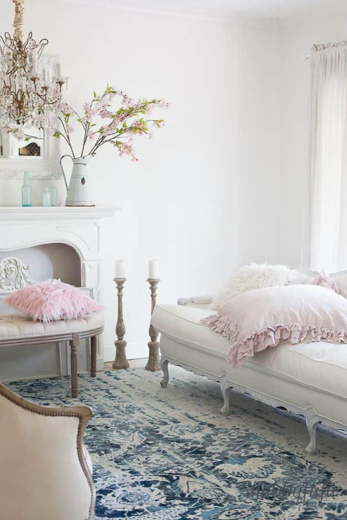 french country decorating ideas for living rooms accent chairs room with arms how to decorate a beautifully blush pink ...