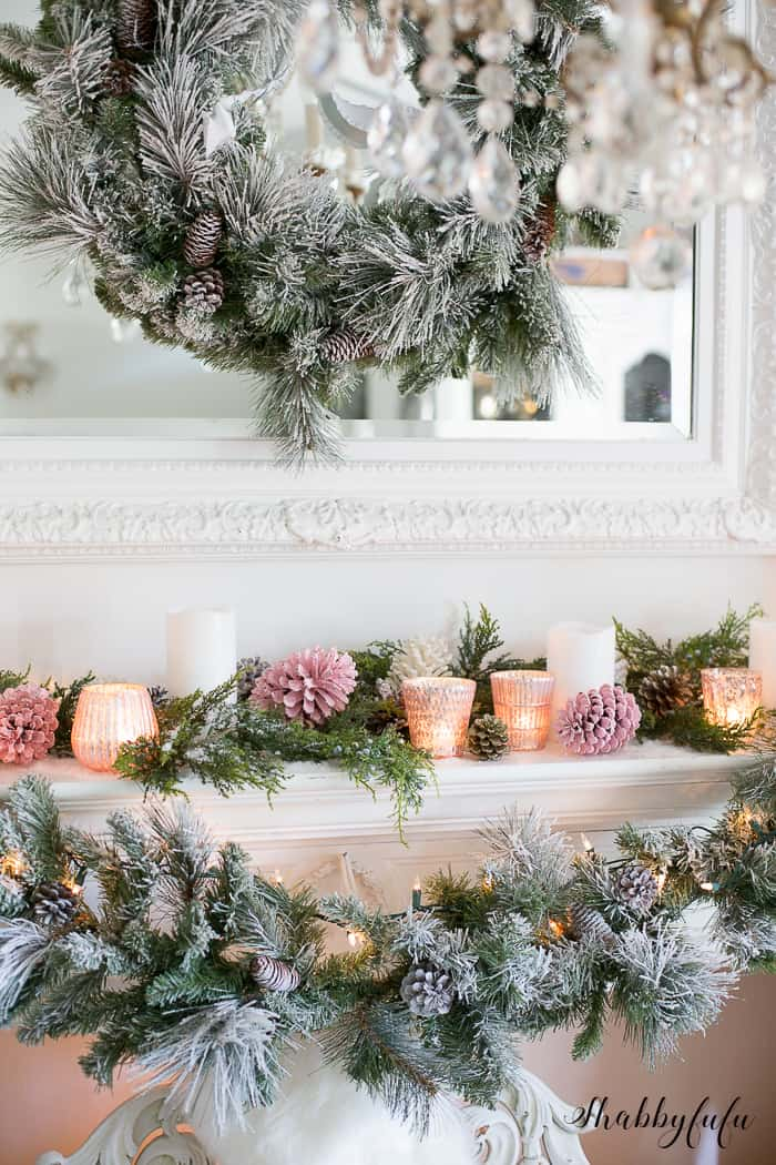 Pink Christmas Tree Decorations and Pink Holiday Decor  shabbyfufucom
