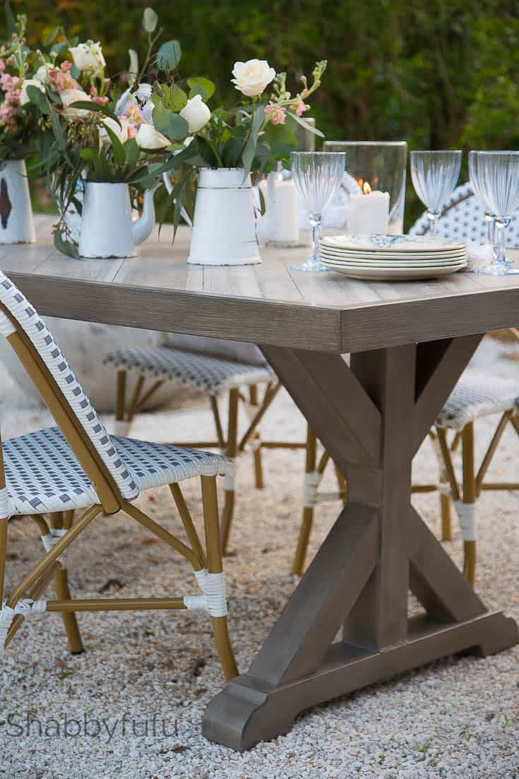 Outdoor Dining Room  French Style Patio Design