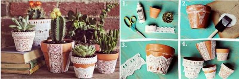 decorar-vasos-de-plantas-com-renda