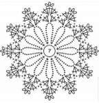 Bellissima stella Natalizia con schema, per i decori Shabby
