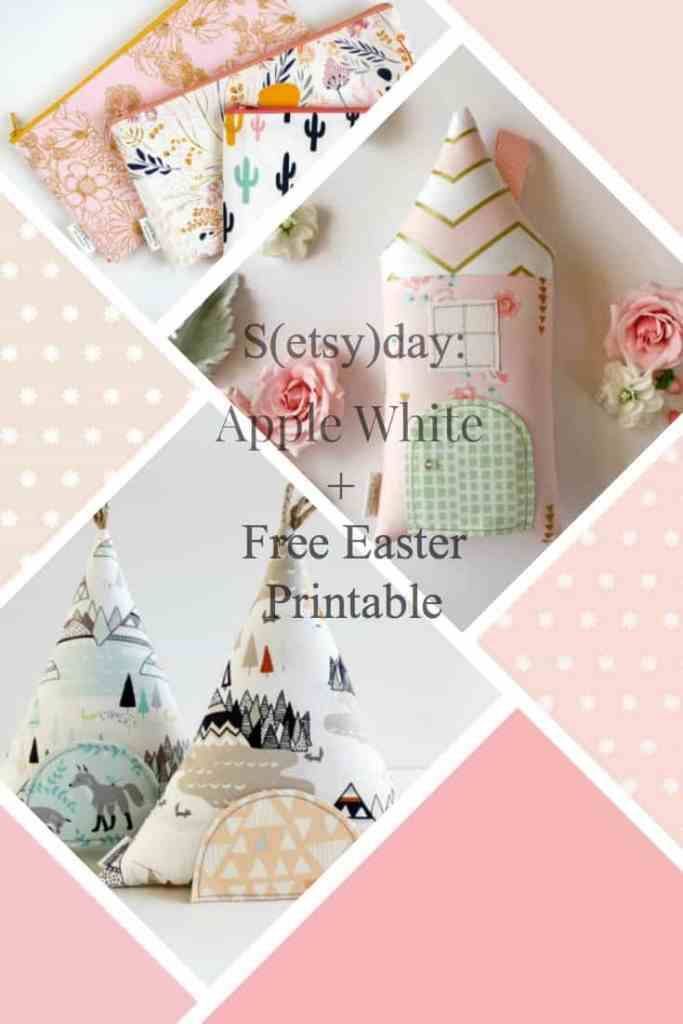 Apple White handmade and EAster printable