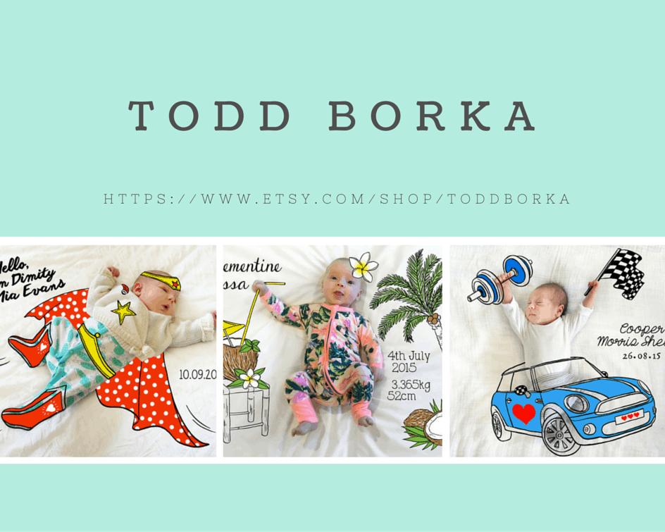 S(etsy)day - Todd Borka & Free Baby Milestone Stickers