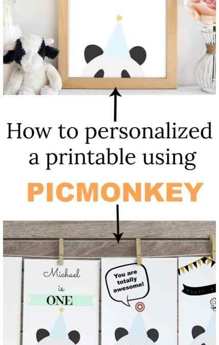 How to personalize printables using Picmonkey