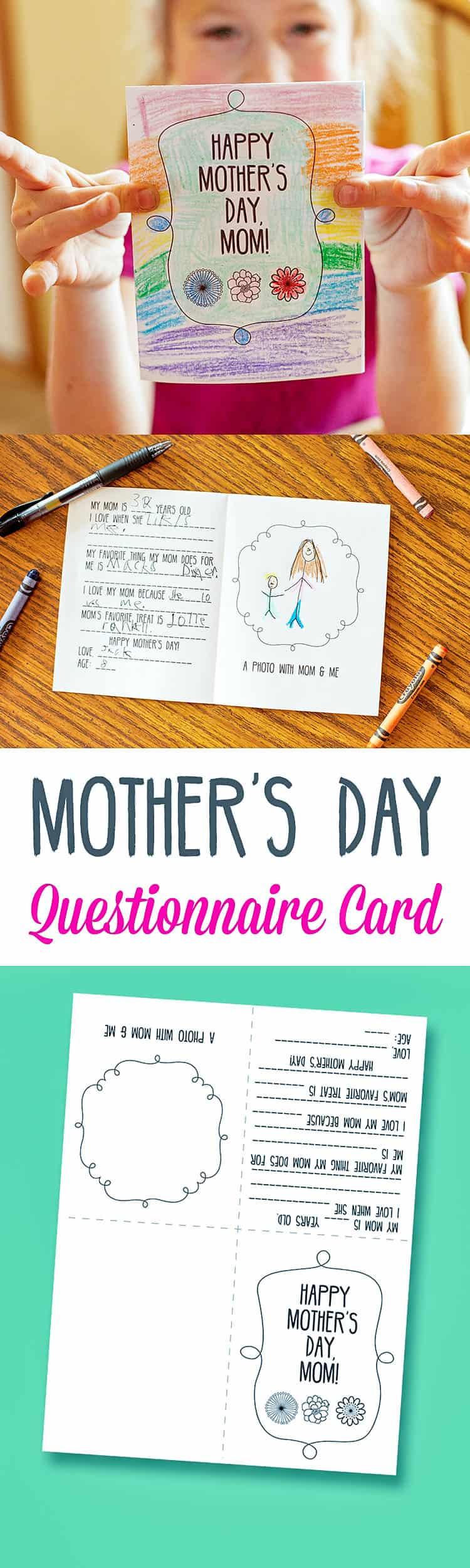 Mother's Day printable craft. shabbymintchicparty.com