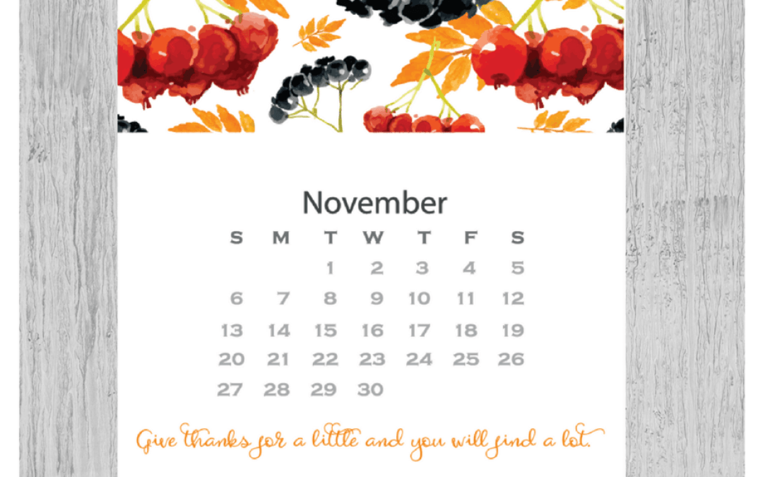 Free November 2016 Calendar Printable