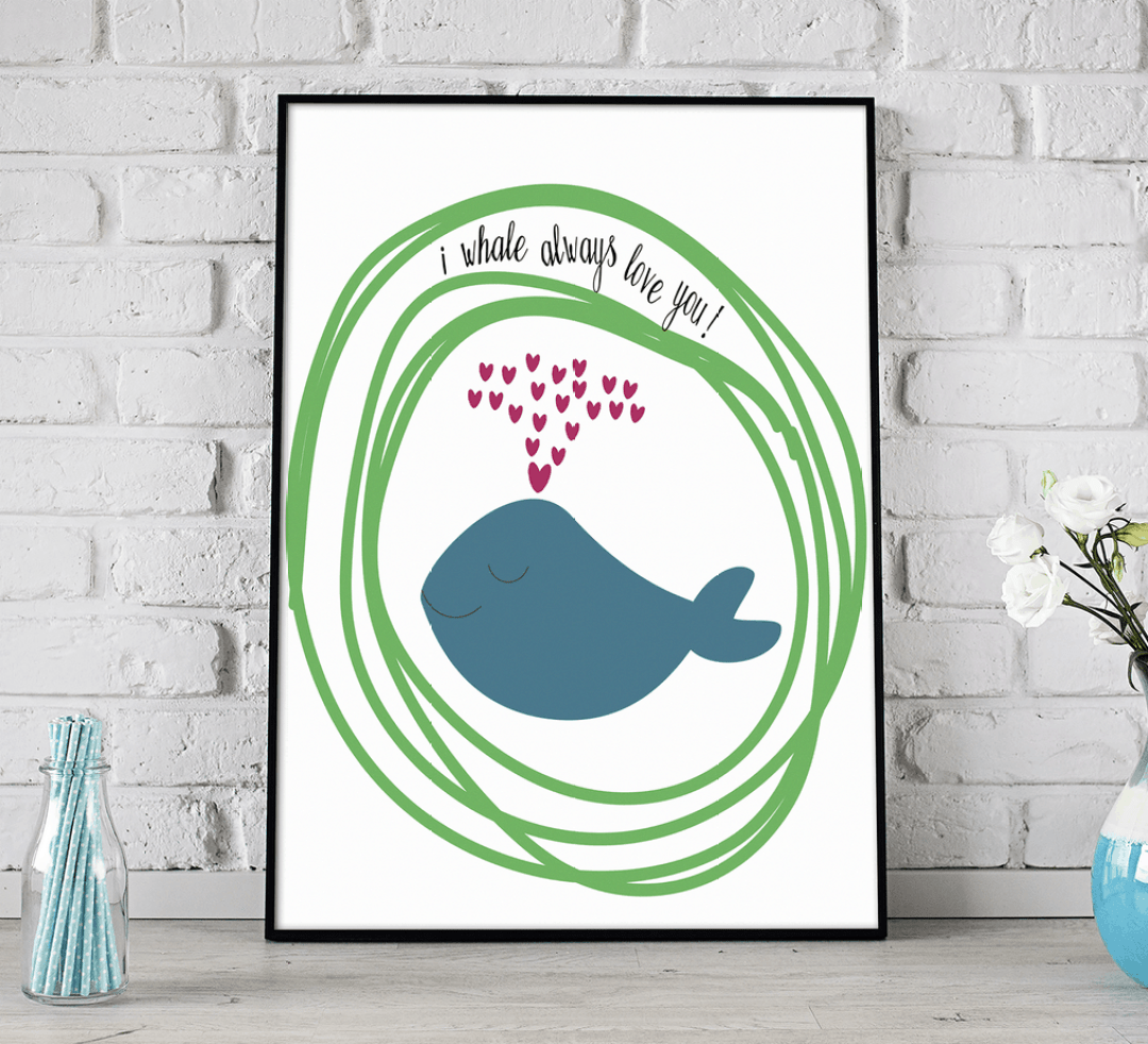 I whaley love you. shabbymintchicparty.etsy.com