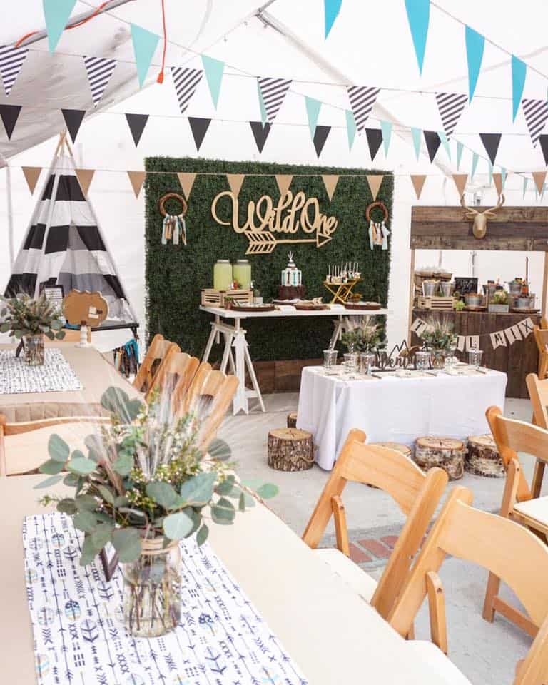 wild one party - Shabby Mint Chic Party