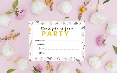 Free Spring Floral Party Invitations