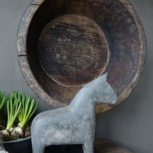 Shabbys-Stoer in wonen-Stoer houten paard Grey, maat L