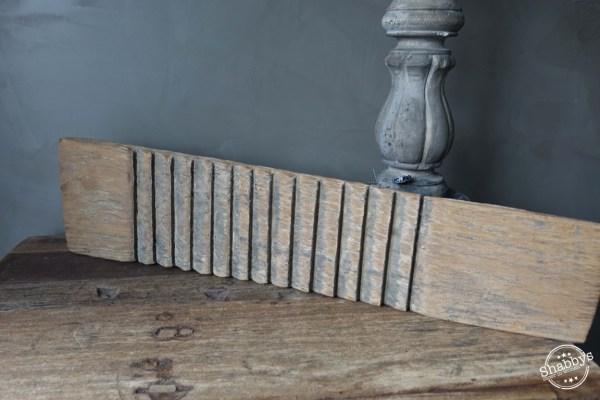 Shabbys-Stoer in wonen-Stoer oud vergrijsd houten wasbord/wasplank, 51 cm breed