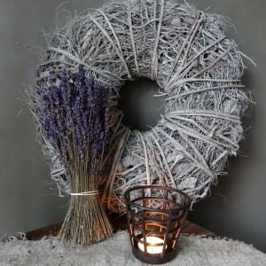 Shabbys-Stoer in wonen-Krans Root Wreath White Wash 39 cm