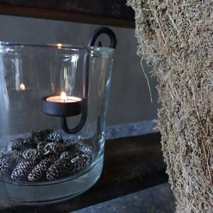 Shabbys-Stoer in wonen-Lavendelbos Rata, met jute touw, hoogte 60 cm
