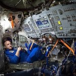 Astronaut folded hands