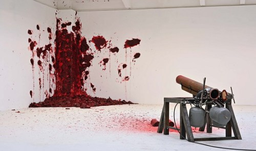 Shooting in the Corner by Anish kapoor live perforamnce