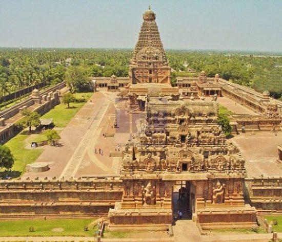 Brihadeeswarar Temple Top angle view