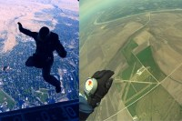 Jump without parachute