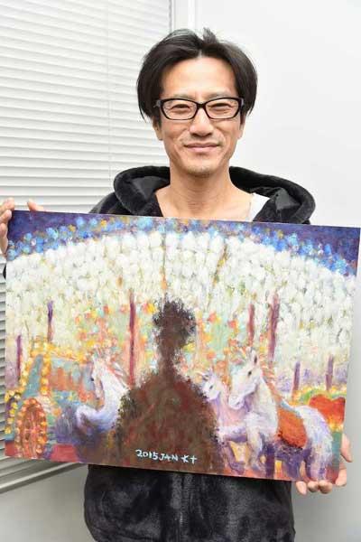 津田寛治 絵画