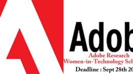 Adobe Research Women-in-Technology Scholarship